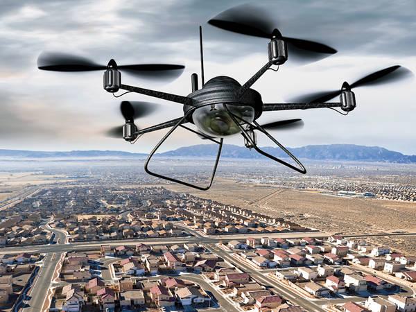 drone de course fpv avec lunette